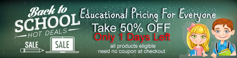 Back To School 50% Discount Special Offer.